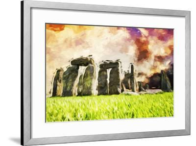 Stonehenge II - In the Style of Oil Painting-Philippe Hugonnard-Framed Giclee Print