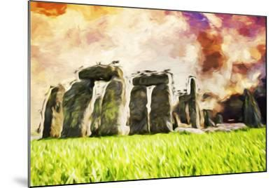 Stonehenge II - In the Style of Oil Painting-Philippe Hugonnard-Mounted Giclee Print