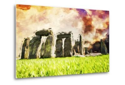 Stonehenge II - In the Style of Oil Painting-Philippe Hugonnard-Metal Print