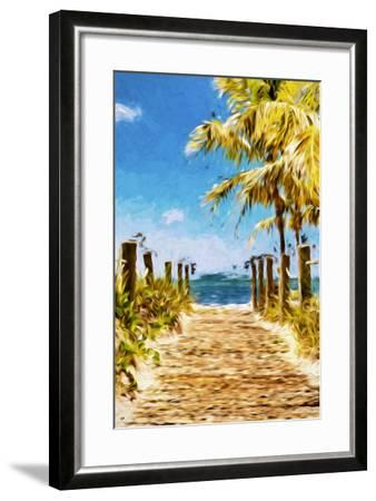 Path to the Beach II - In the Style of Oil Painting-Philippe Hugonnard-Framed Giclee Print
