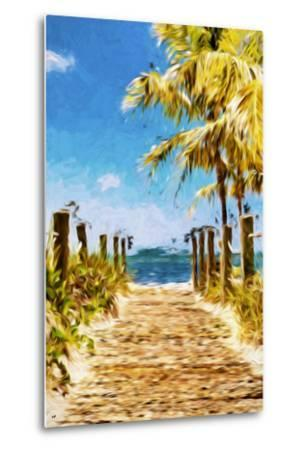 Path to the Beach II - In the Style of Oil Painting-Philippe Hugonnard-Metal Print