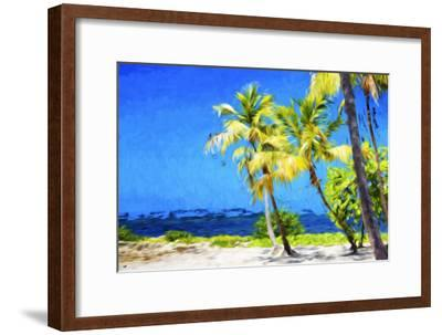 Quiet Beach II - In the Style of Oil Painting-Philippe Hugonnard-Framed Giclee Print