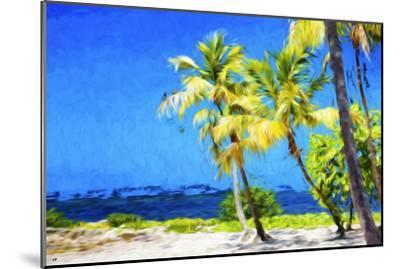Quiet Beach II - In the Style of Oil Painting-Philippe Hugonnard-Mounted Giclee Print