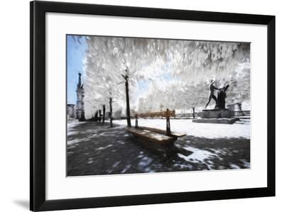 Lonely Bench - In the Style of Oil Painting-Philippe Hugonnard-Framed Giclee Print