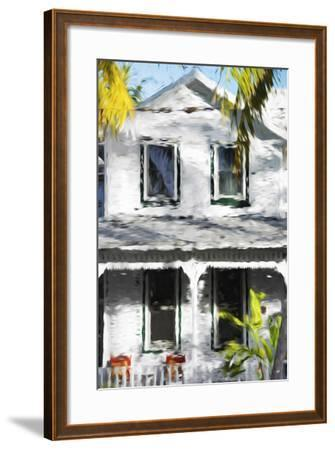 Colonial House V - In the Style of Oil Painting-Philippe Hugonnard-Framed Giclee Print