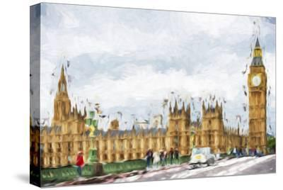 Westminster Palace - In the Style of Oil Painting-Philippe Hugonnard-Stretched Canvas Print