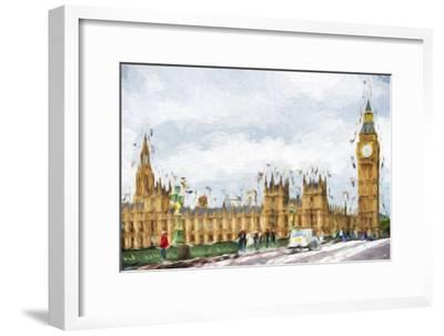 Westminster Palace - In the Style of Oil Painting-Philippe Hugonnard-Framed Giclee Print
