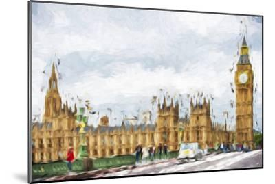 Westminster Palace - In the Style of Oil Painting-Philippe Hugonnard-Mounted Giclee Print