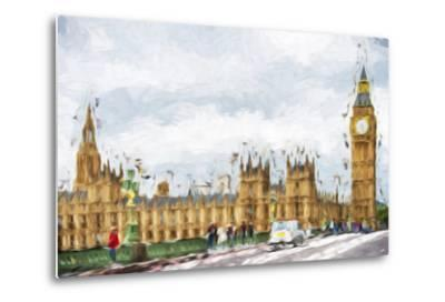 Westminster Palace - In the Style of Oil Painting-Philippe Hugonnard-Metal Print