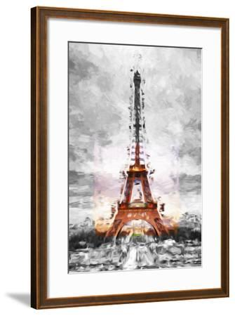 Eiffel Je t'aime II - In the Style of Oil Painting-Philippe Hugonnard-Framed Giclee Print