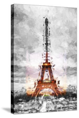 Eiffel Je t'aime II - In the Style of Oil Painting-Philippe Hugonnard-Stretched Canvas Print