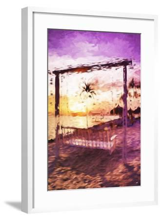 Swinging Chair II - In the Style of Oil Painting-Philippe Hugonnard-Framed Giclee Print