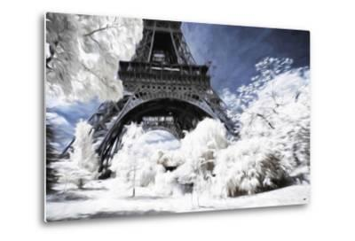 Paris under the snow - In the Style of Oil Painting-Philippe Hugonnard-Metal Print