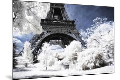 Paris under the snow - In the Style of Oil Painting-Philippe Hugonnard-Mounted Giclee Print
