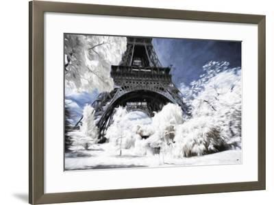 Paris under the snow - In the Style of Oil Painting-Philippe Hugonnard-Framed Giclee Print