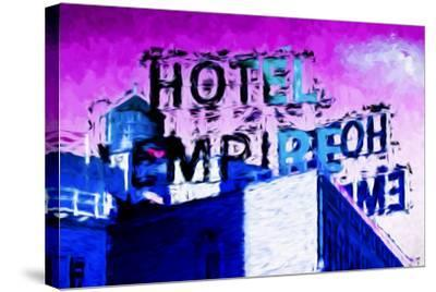 Hotel Empire Pink Sky - In the Style of Oil Painting-Philippe Hugonnard-Stretched Canvas Print
