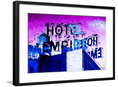 Hotel Empire Pink Sky - In the Style of Oil Painting-Philippe Hugonnard-Framed Giclee Print