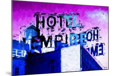 Hotel Empire Pink Sky - In the Style of Oil Painting-Philippe Hugonnard-Mounted Giclee Print
