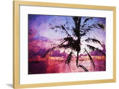 Tropical Sunset II - In the Style of Oil Painting-Philippe Hugonnard-Framed Giclee Print