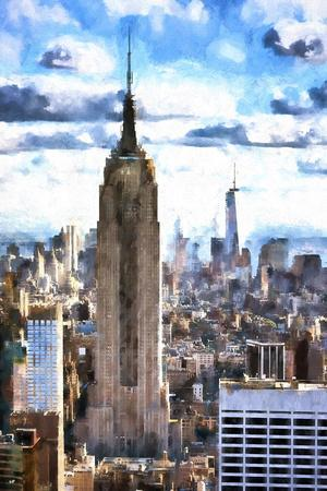 Empire State & 1WTC-Philippe Hugonnard-Framed Giclee Print