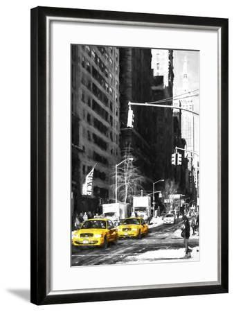 Two NYC Taxis-Philippe Hugonnard-Framed Giclee Print