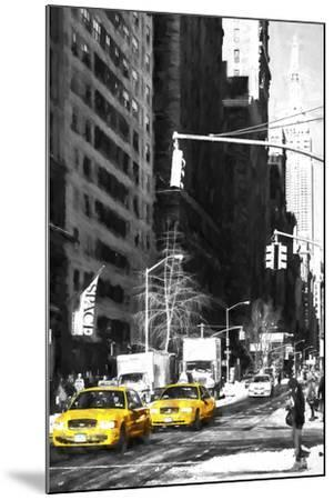 Two NYC Taxis-Philippe Hugonnard-Mounted Giclee Print