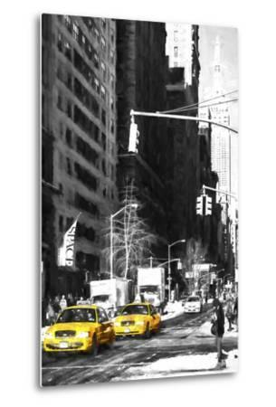 Two NYC Taxis-Philippe Hugonnard-Metal Print