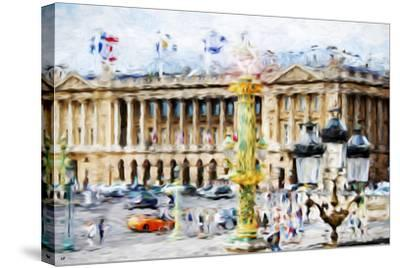 Paris Urban Scene - In the Style of Oil Painting-Philippe Hugonnard-Stretched Canvas Print
