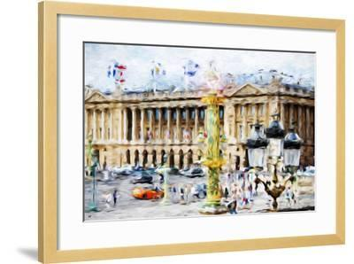 Paris Urban Scene - In the Style of Oil Painting-Philippe Hugonnard-Framed Giclee Print