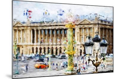 Paris Urban Scene - In the Style of Oil Painting-Philippe Hugonnard-Mounted Giclee Print