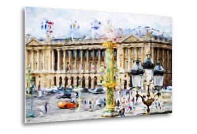 Paris Urban Scene - In the Style of Oil Painting-Philippe Hugonnard-Metal Print