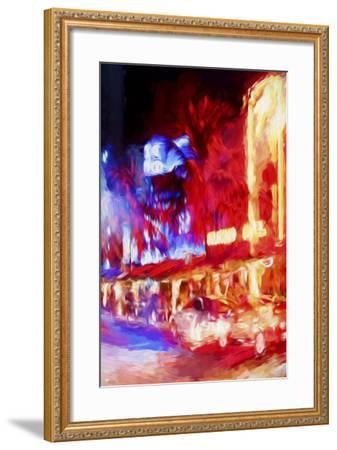 Red Boulevard II - In the Style of Oil Painting-Philippe Hugonnard-Framed Giclee Print