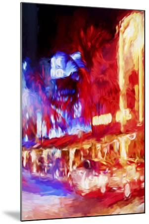 Red Boulevard II - In the Style of Oil Painting-Philippe Hugonnard-Mounted Giclee Print