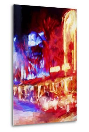 Red Boulevard II - In the Style of Oil Painting-Philippe Hugonnard-Metal Print