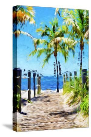 Path to the Beach III - In the Style of Oil Painting-Philippe Hugonnard-Stretched Canvas Print