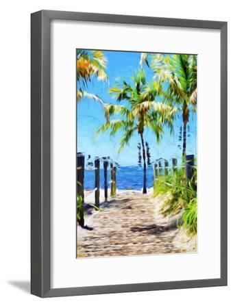 Path to the Beach III - In the Style of Oil Painting-Philippe Hugonnard-Framed Giclee Print