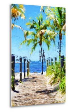 Path to the Beach III - In the Style of Oil Painting-Philippe Hugonnard-Metal Print