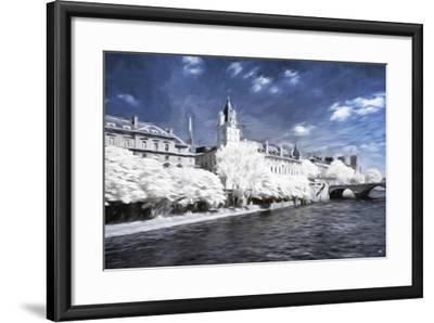 Paris Architecture - In the Style of Oil Painting-Philippe Hugonnard-Framed Giclee Print