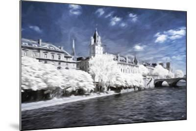 Paris Architecture - In the Style of Oil Painting-Philippe Hugonnard-Mounted Giclee Print