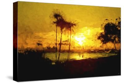 Yellow Beach - In the Style of Oil Painting-Philippe Hugonnard-Stretched Canvas Print