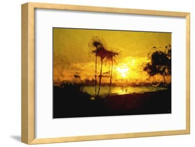 Yellow Beach - In the Style of Oil Painting-Philippe Hugonnard-Framed Giclee Print
