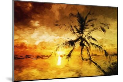 Sunset Palm I - In the Style of Oil Painting-Philippe Hugonnard-Mounted Giclee Print