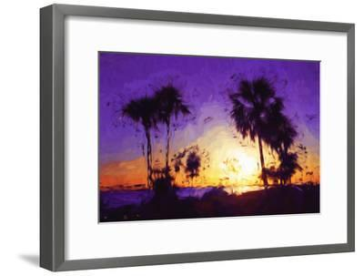 Purple Sunset - In the Style of Oil Painting-Philippe Hugonnard-Framed Giclee Print