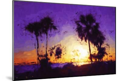 Purple Sunset - In the Style of Oil Painting-Philippe Hugonnard-Mounted Giclee Print