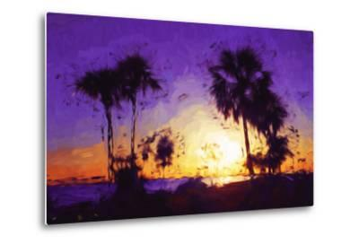 Purple Sunset - In the Style of Oil Painting-Philippe Hugonnard-Metal Print