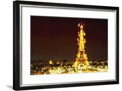Eiffel Inspiration II - In the Style of Oil Painting-Philippe Hugonnard-Framed Giclee Print