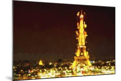 Eiffel Inspiration II - In the Style of Oil Painting-Philippe Hugonnard-Mounted Giclee Print