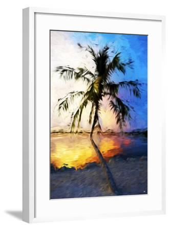 Sunset Palm V - In the Style of Oil Painting-Philippe Hugonnard-Framed Giclee Print