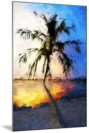 Sunset Palm V - In the Style of Oil Painting-Philippe Hugonnard-Mounted Giclee Print