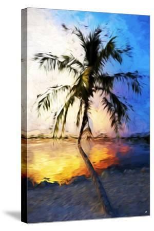 Sunset Palm V - In the Style of Oil Painting-Philippe Hugonnard-Stretched Canvas Print